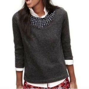 J Crew Black Starburst Gem Pullover Sweater